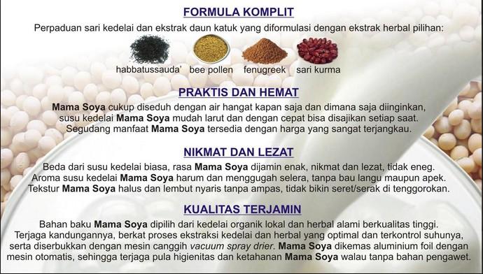 mama soya dan kandungan nutrisinya