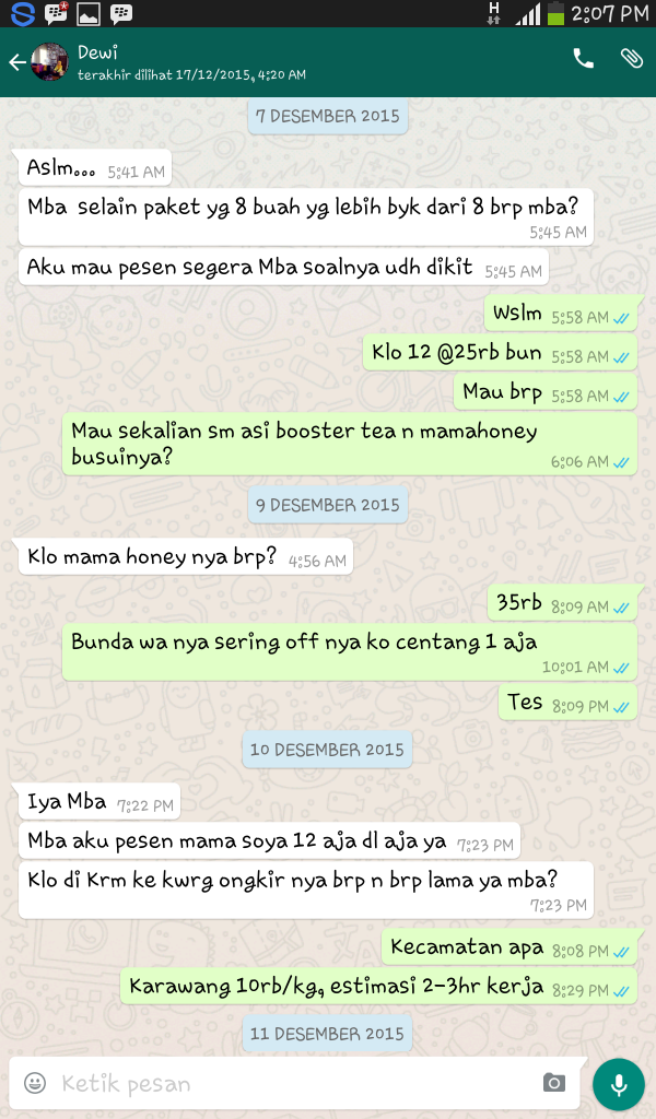 jual mama honey herbal pelancar asi